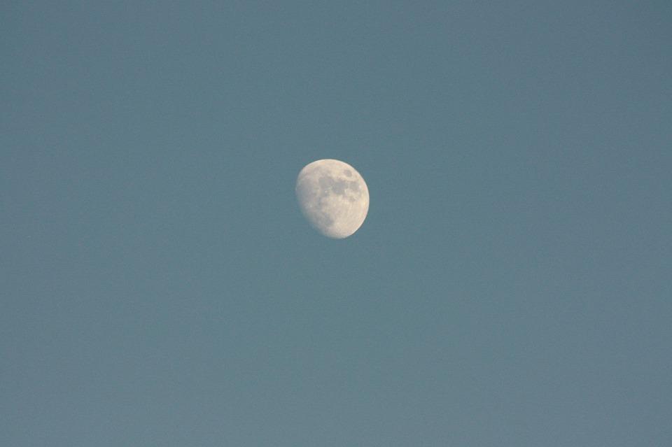 Month, Moon, Night, Sky, Space, Blue, Atmospheric
