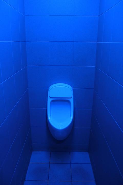 Toilet For Men, Blue Oil, Background, Toilet, Man, Wc