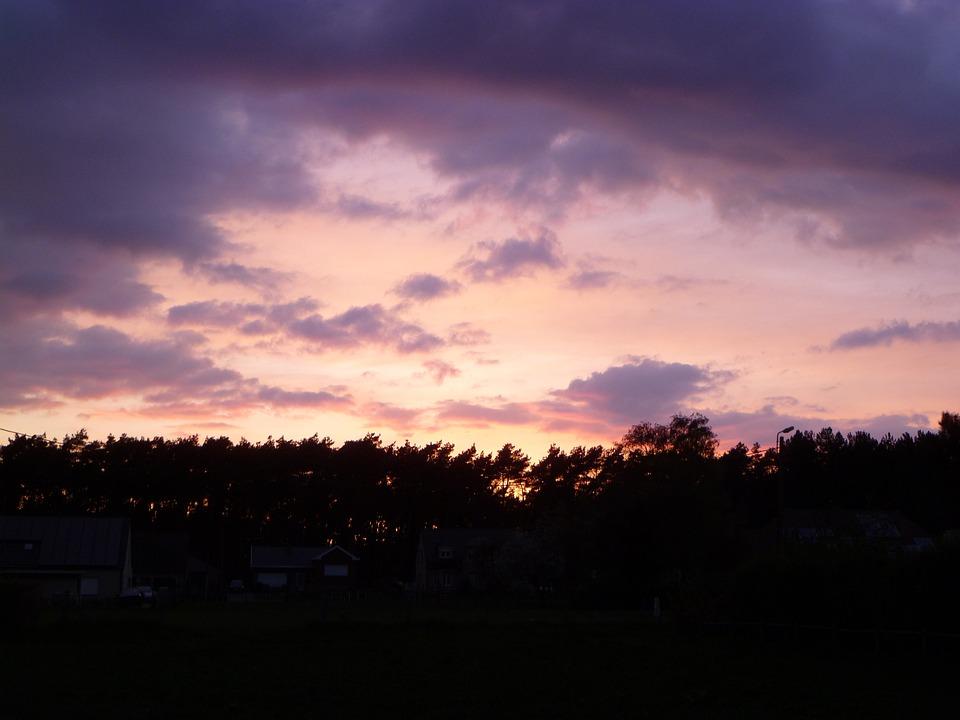 Colorful Sunset, Sun, Sunset, Yellow, Orange, Blue