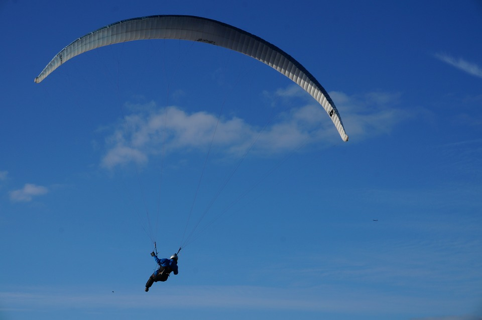 Paragliding, Fly, Sky, Blue, Outdoor