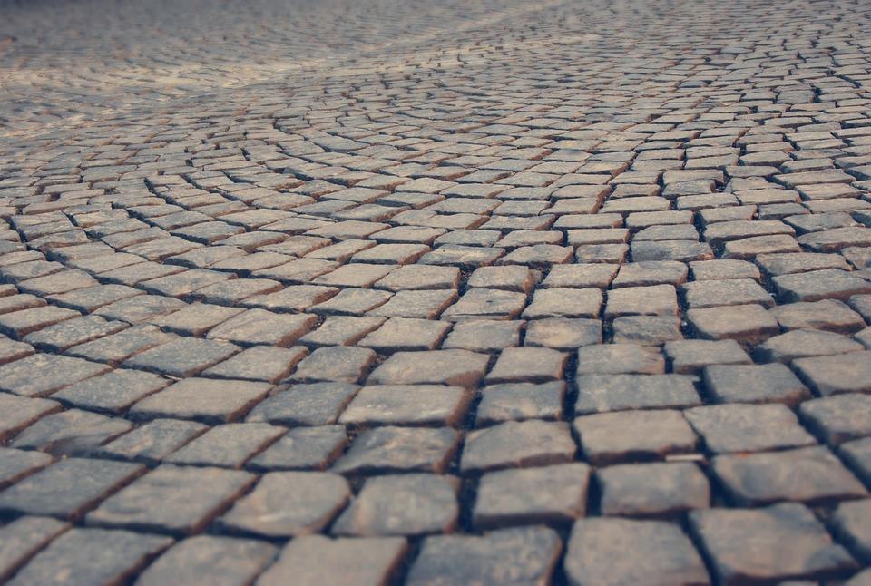 Stones, Road, Blue, Patch, Cobblestones, Paving Stones