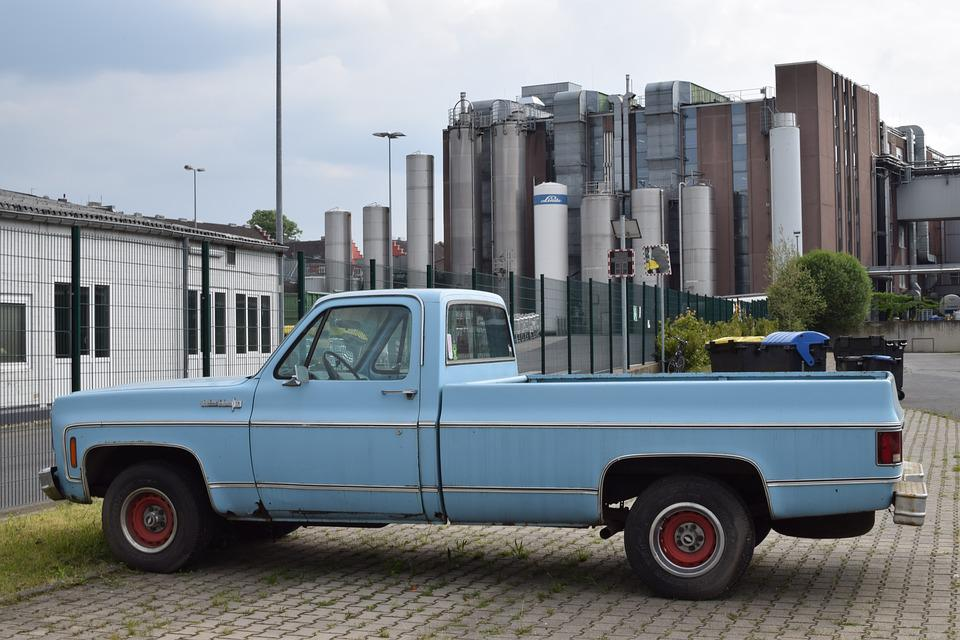 Pick Up, Auto, Blue
