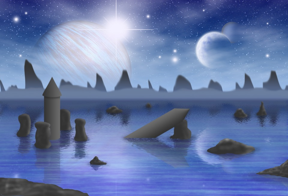 Blue, Planets, Fantasy, Blue Planet