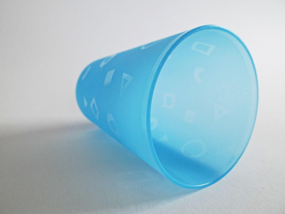 Plastic Cups, Cup, Drink, Beverages, Colorful, Blue