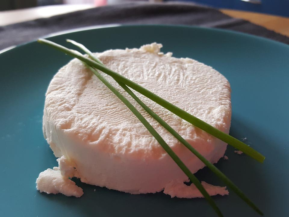 Goat Cheese, Chive, Blue Plate