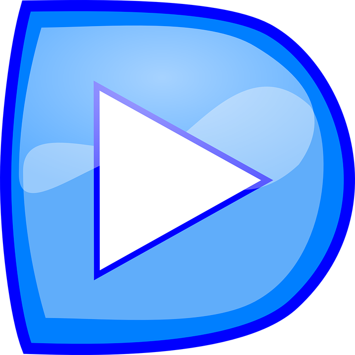 Button, Play, Recorder, Blue, Reflection