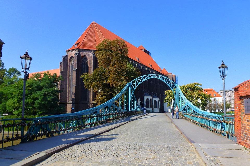 Architecture, Poland, Bridge, Blue, Cathedral, Travel