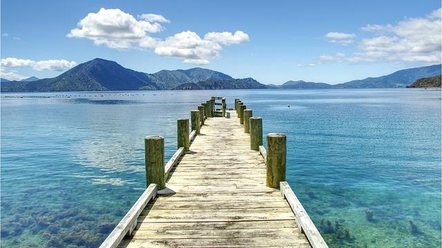 Blue, Turquoise, Pontoon, Water, Transparent, Travel