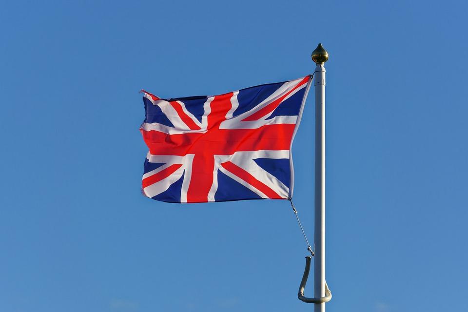 Union Jack, Flag, Red, White, Blue, Flagpole, Union