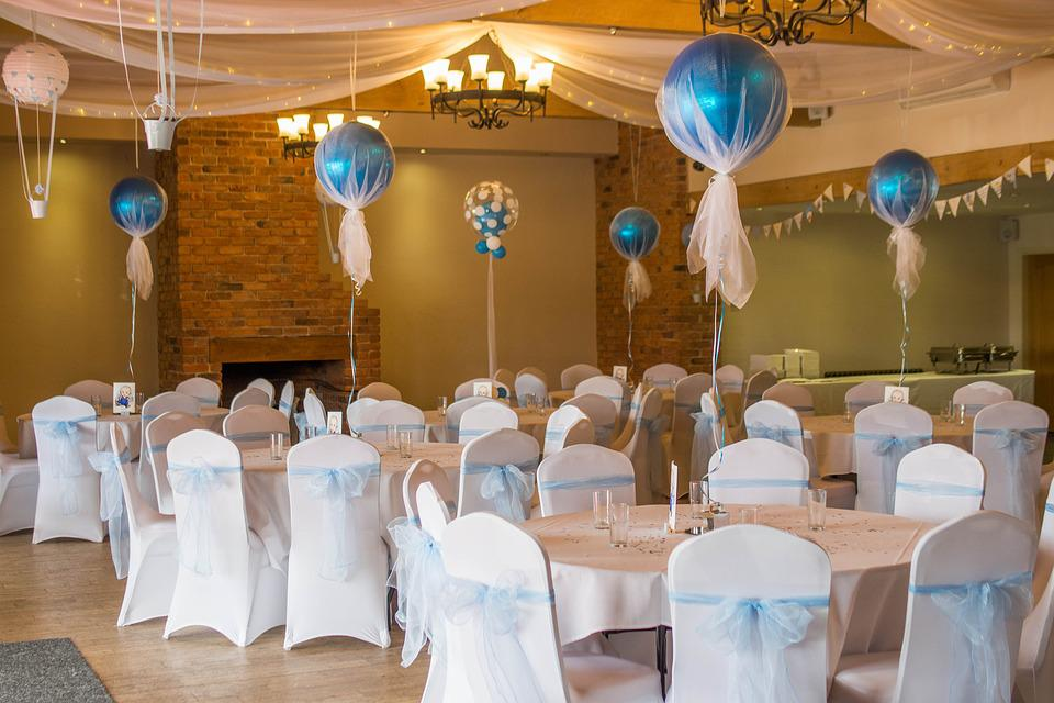 Christening, Event, Room, Balloon, Blue, Function Room