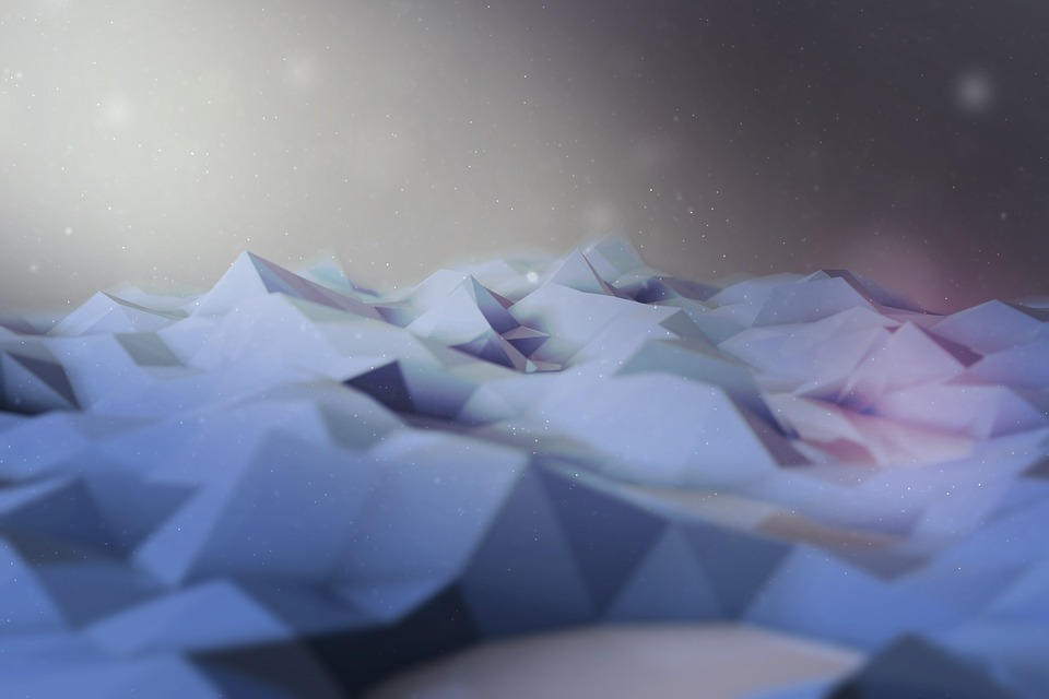 Polygon, Blue, Scene
