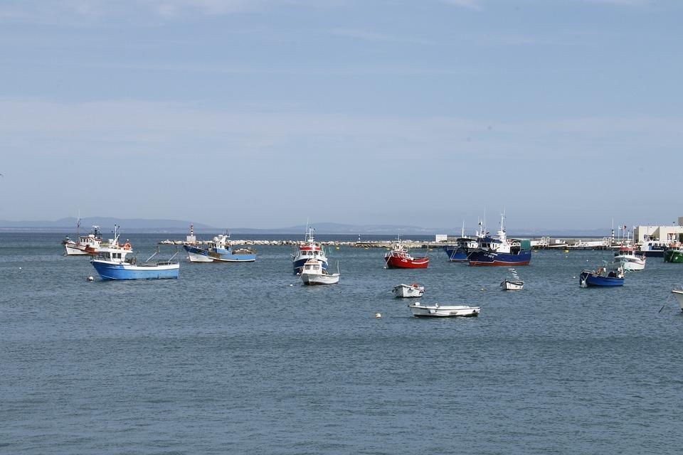 Cascais, Portugal, Bay, Blue Sea, Salt Water, Vessels