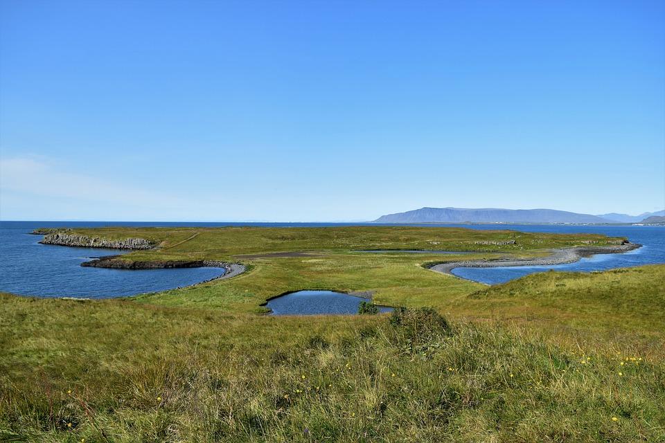 Island, Ocean, Sky, Headland, Nature, Shore, Sea, Blue