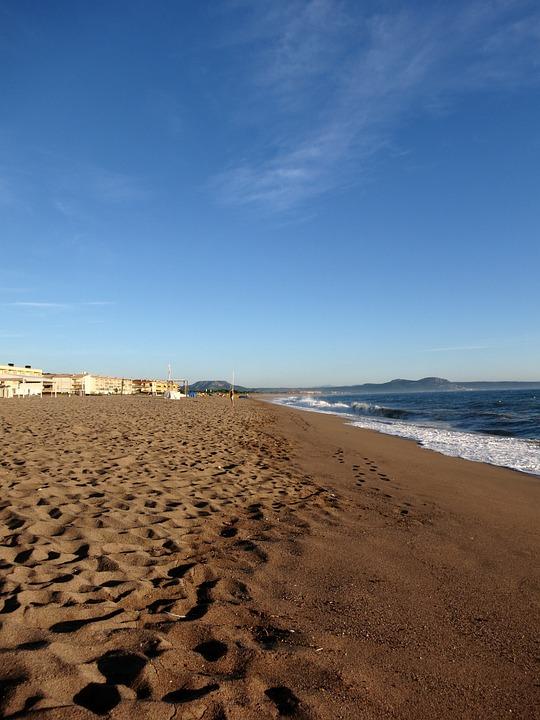 Beach, Sky, Blue, Sea, Sand, Holidays