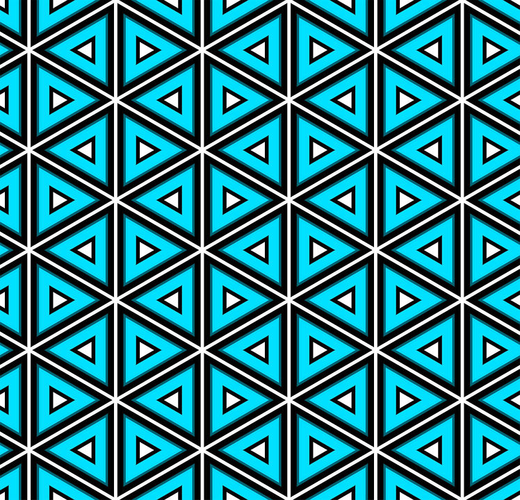 Blue, Pattern, Triangles, Design, Seamless, Lines