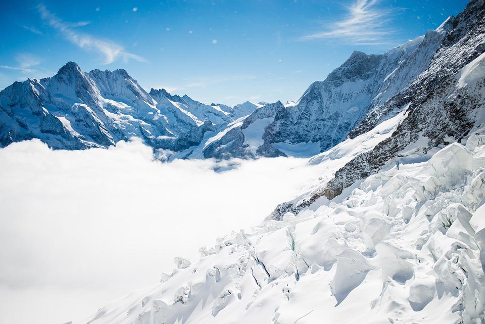Adventure, Alps, Blue Sky, Cold, Frozen, Glacier