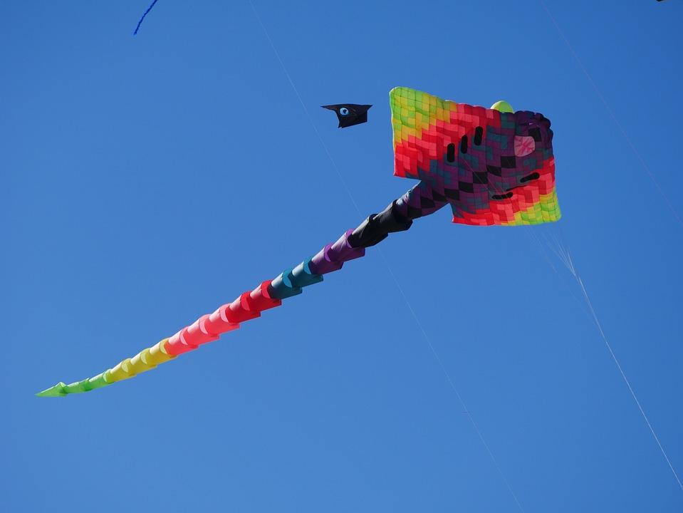 Aviator, Air, Colors, Wind Kite, Blue, Blue Sky