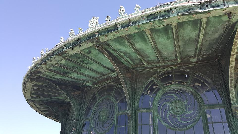 Patina, Roof, Asbury Park, Arcade, Blue Sky, Sunny