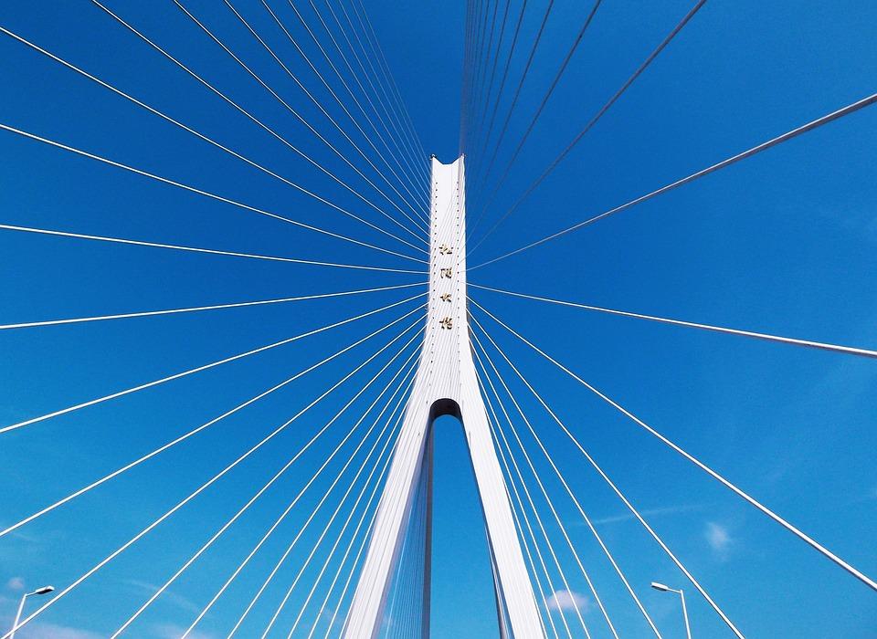 Bridge, Blue Sky, Cable