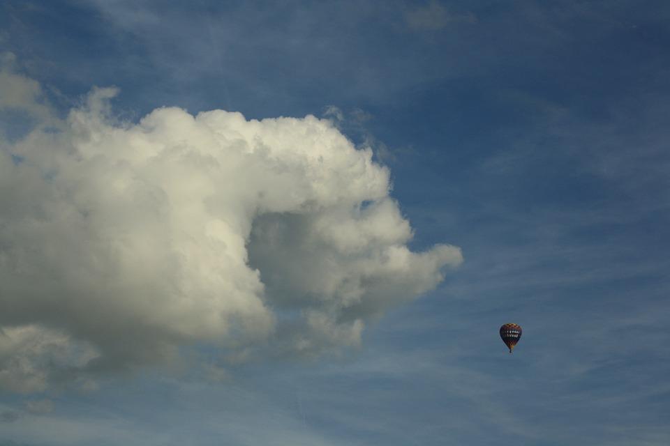 Blue Sky, Heaven, Cloud, Air, Hot Air Balloon