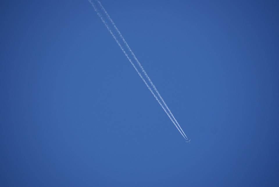 Contrail, Condense, Sky, Blue Sky, Summer, Aircraft