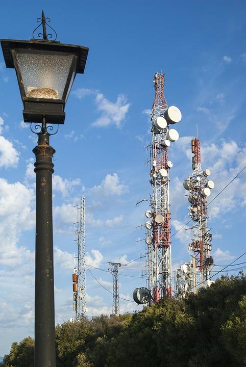 Technology, Street Lamp, Contrast, Blue Sky, Rugged