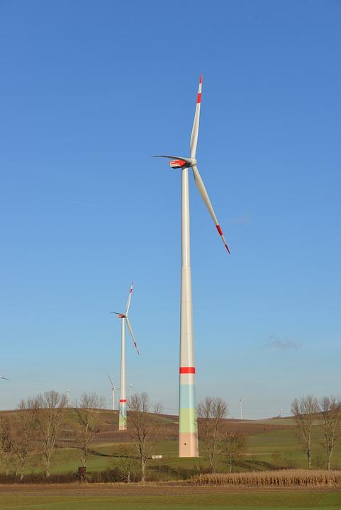 Windräder, Energy, Eco Energy, Wind Power, Sky, Blue