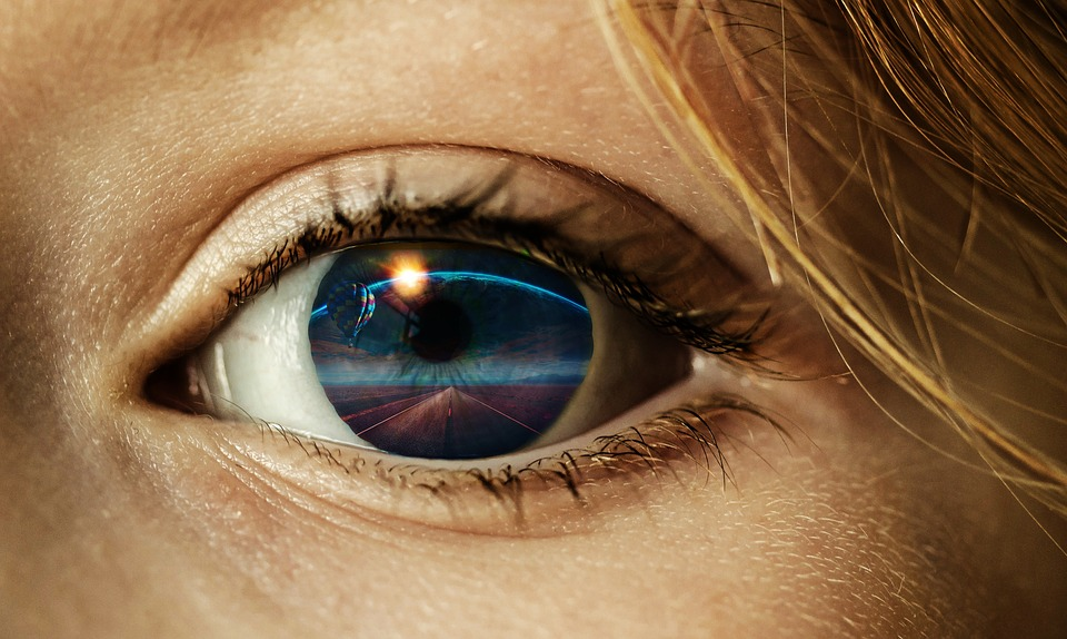 Eye, Illustration, London Eye, Woman, Face, Blue Sky