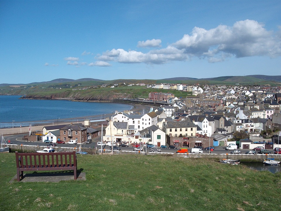 Isle Of Man, Isle, Sea, Coast, Blue Sky, Town, Village