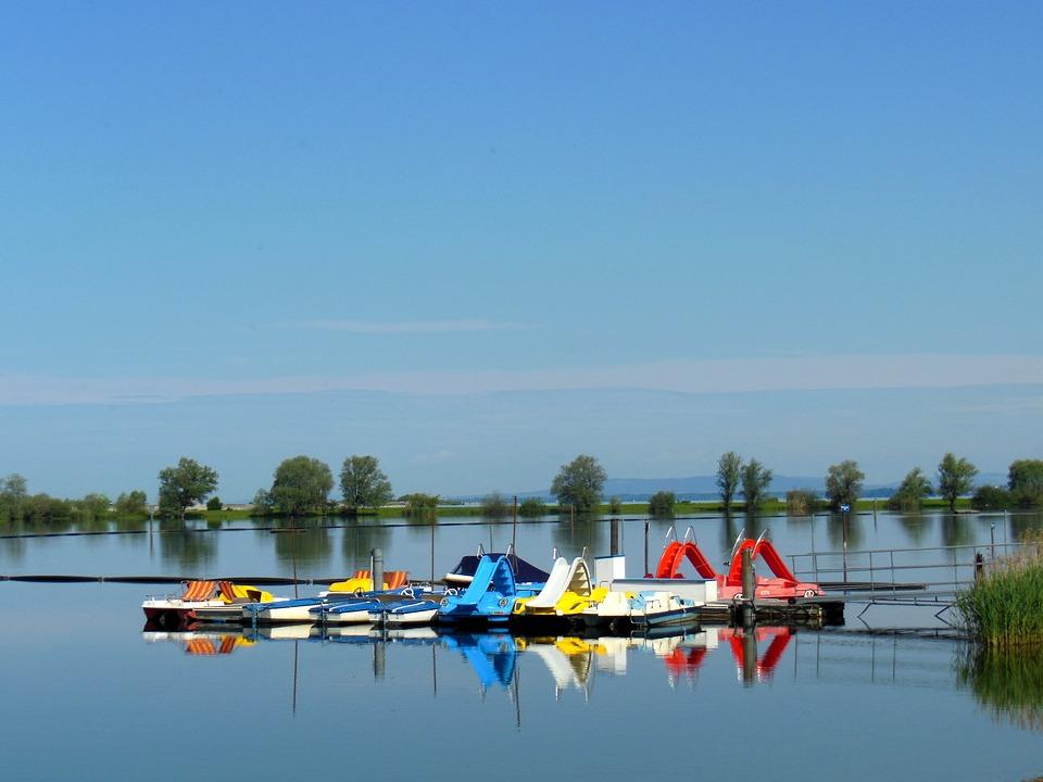 Lake Constance, Lagoon, Boat Rental, Water, Blue Sky