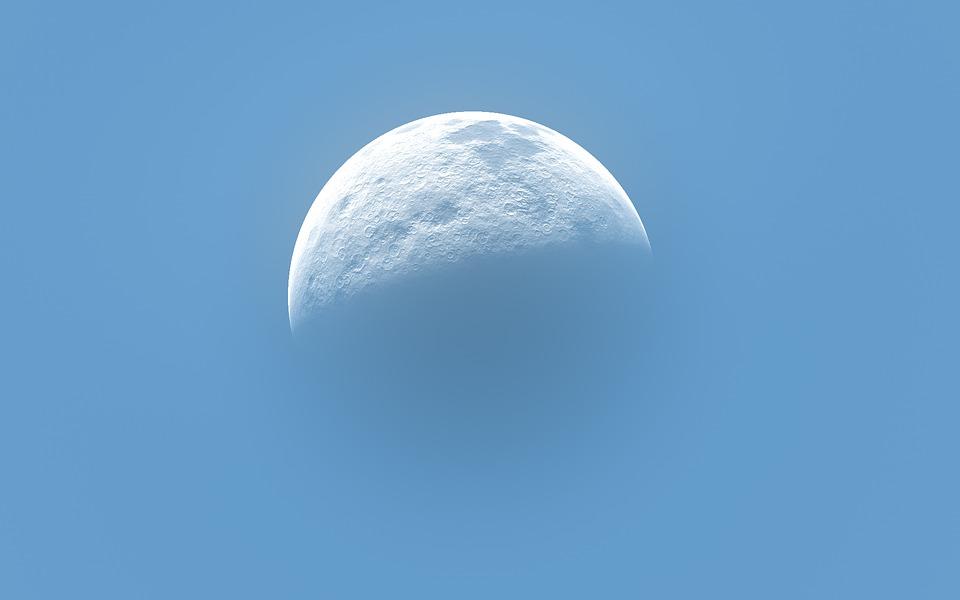 Moon, Sky, Blue, Background