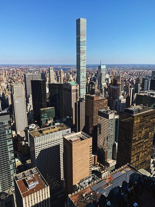 New York, Skyscraper, Blue Sky
