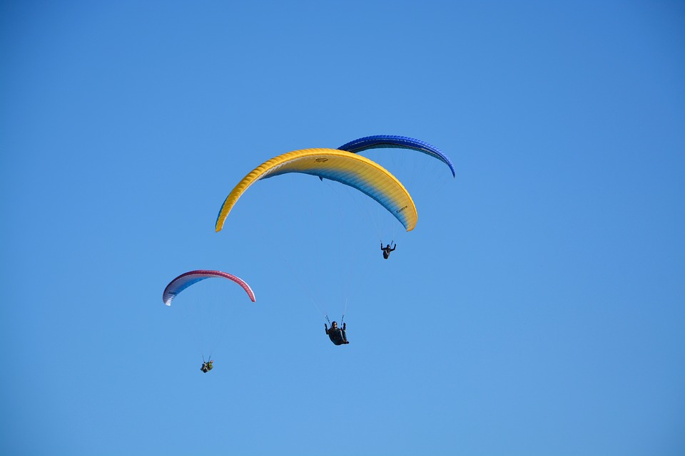 Paragliders Paragliders, Aircraft, Blue Sky