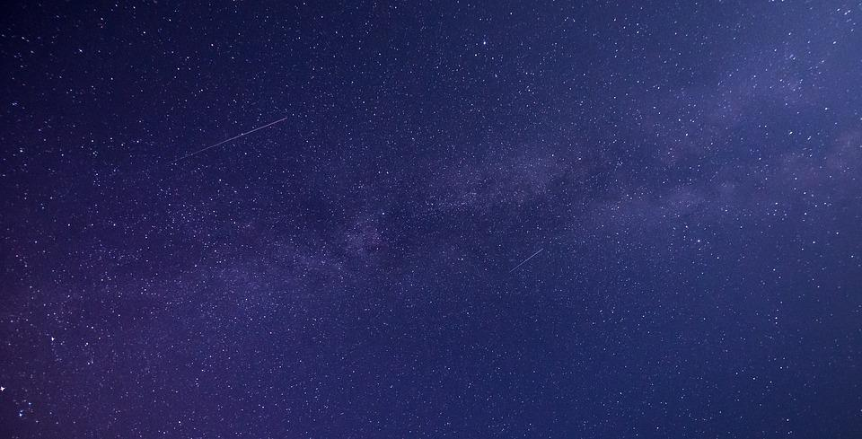 Stars, Milky Way, Night, Sky, Blue Sky, Blue Stars