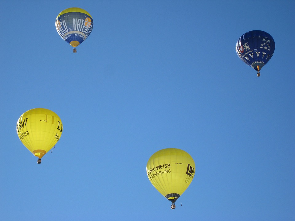 Sky, Hot Air Balloon, Fly, Summer, Blue