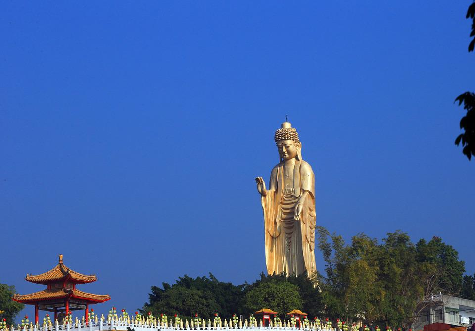 Taiwan, Buddha Statues, Blue Sky