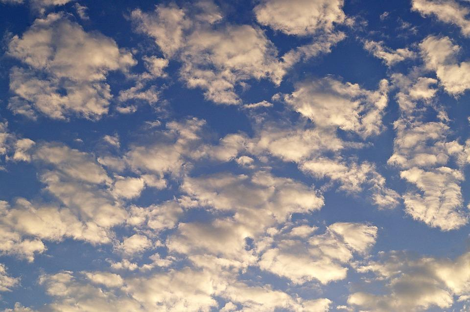 White Clouds, Blue Sky, Sky, Blue, White, Clouds