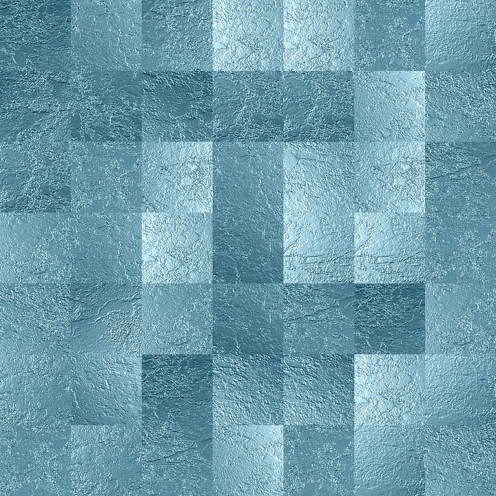 Background, Squares, Glass, Blue, Scrapbooking, Paper