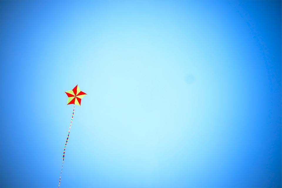 Kite, Blue, Sky, Star