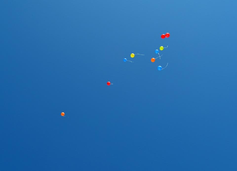 Balloons, Sky, Heaven, Blue, Blue Sky, Summer, Fun