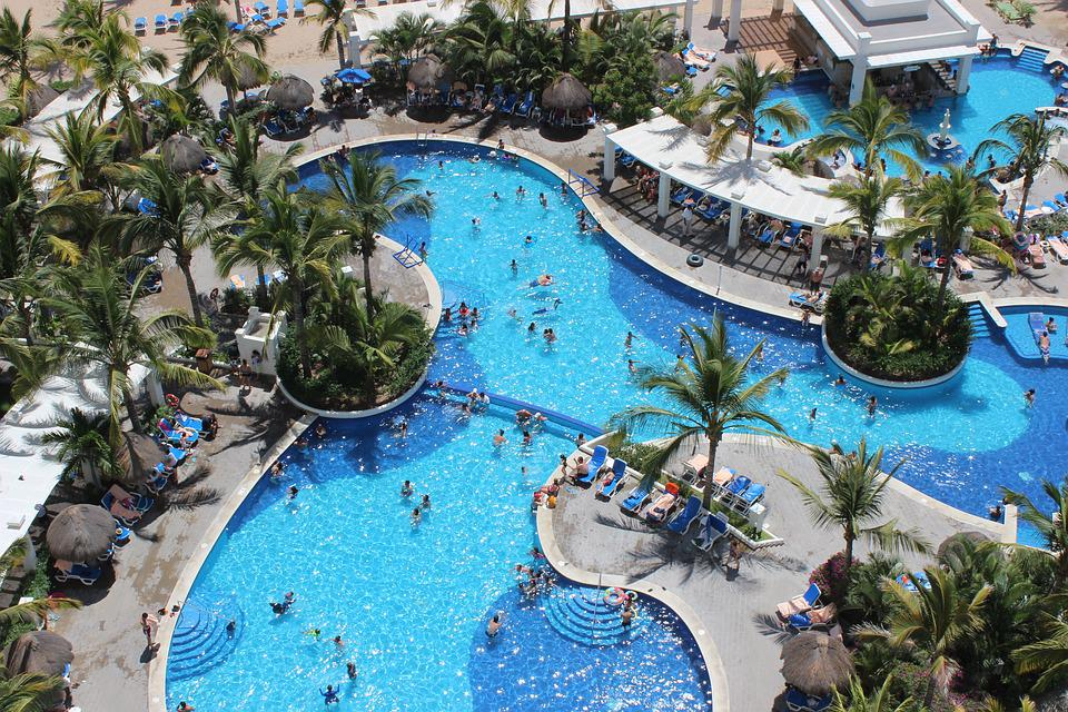 Pool, Summer, Water, Blue, Holiday, Palms, Tile