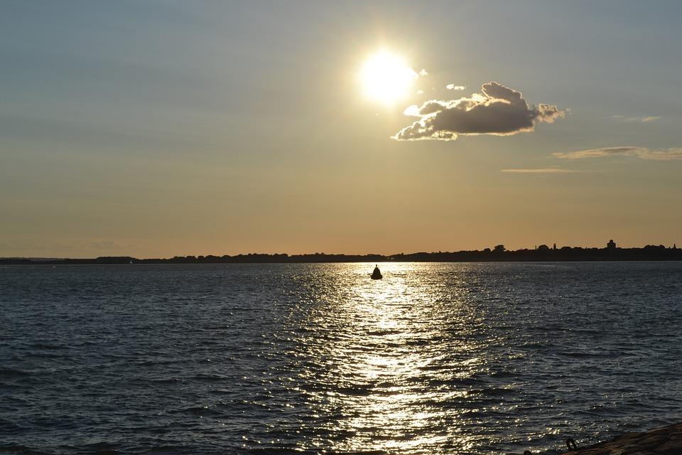 Cloud, Sky, Blue, Landscape, Sea, Sun