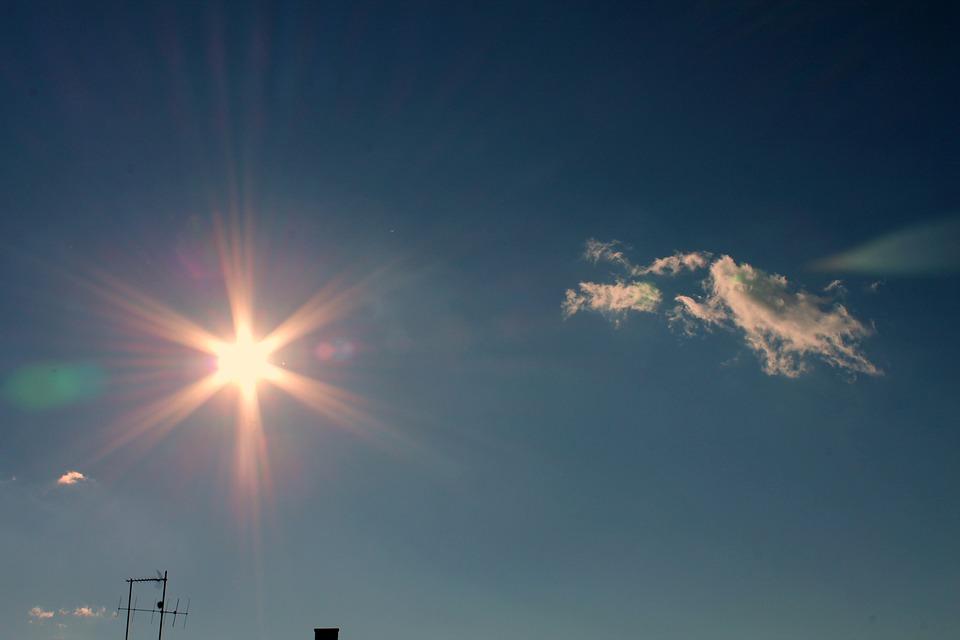 Sun, Light, Sky, Cloud, Blue