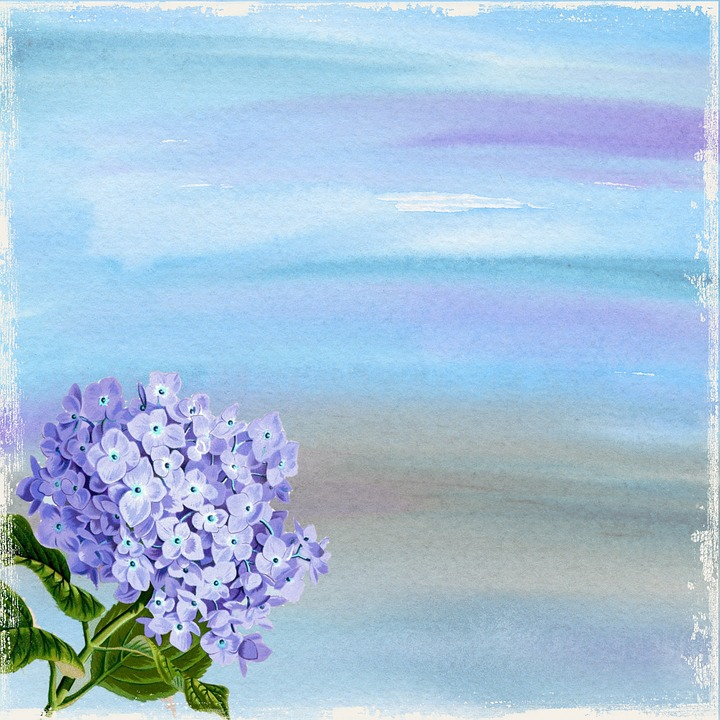 Background, Template, Blue, Purple, Stained