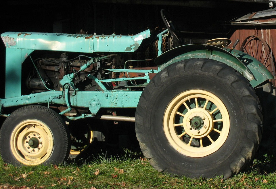 Tractor, Blue, Farm, Machine, Machinery, Agricultural