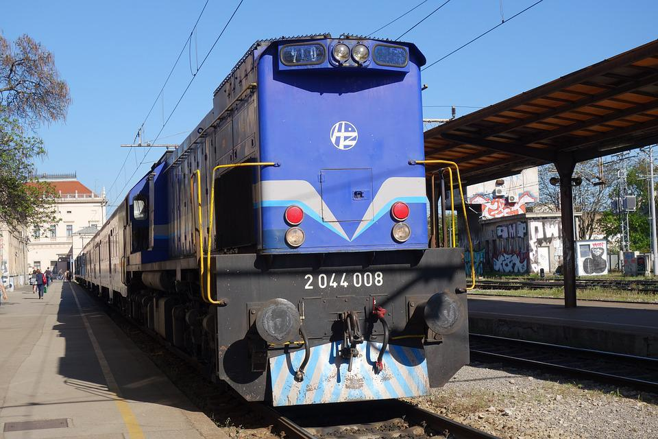 Train, Railway, Blue, Travel, Station