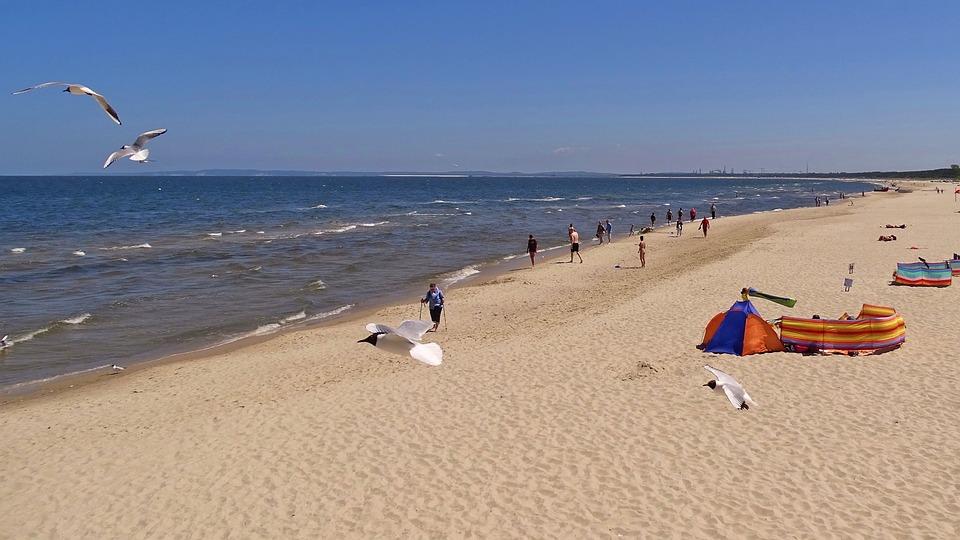 Usedom, Zinnowitz, Sky, Beach, Sea, Blue, Clouds