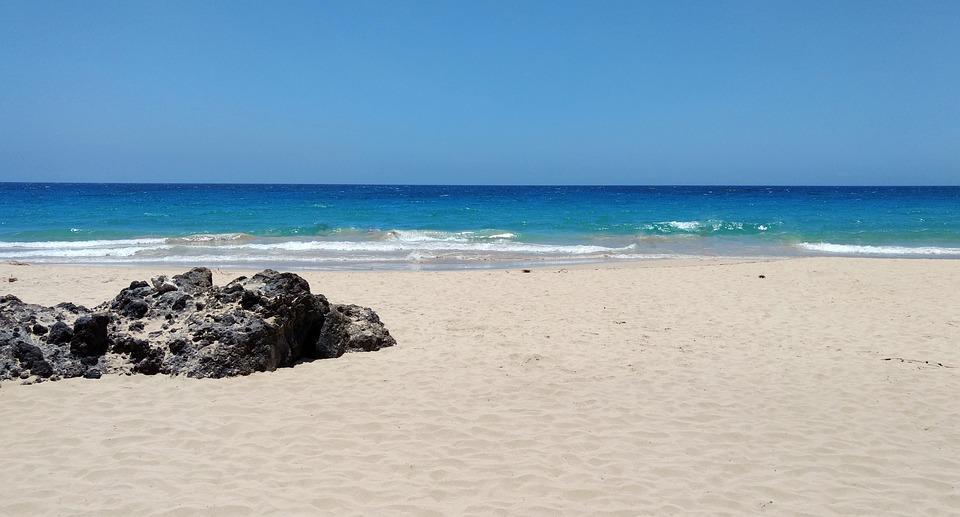 Beach, Sand, Ocean, Sea, Blue, Volcanic Rock, Hawaii