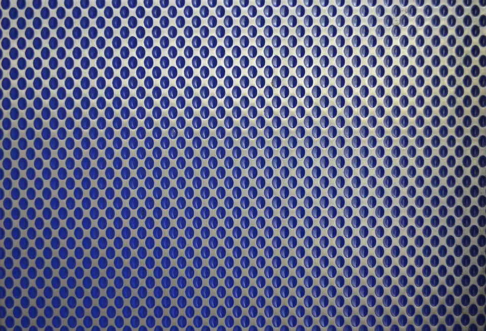 Blue Background Wallpaper Sheet Metal Wall