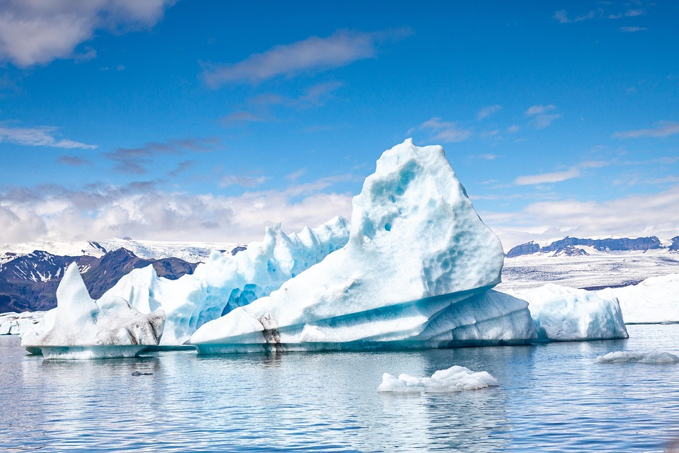 Iceberg, Iceland, Ice Cream, Water, Blue